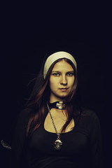Pretty nun