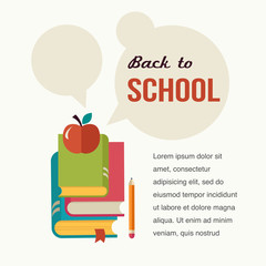 Back to school, read the books, concept backgound