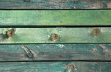 Old green wooden boards on wall or floor