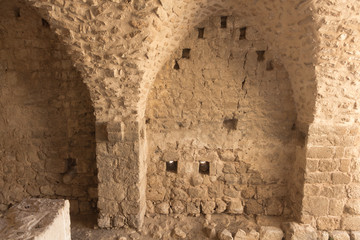 The ruins of the Crusader fortress in Israel.