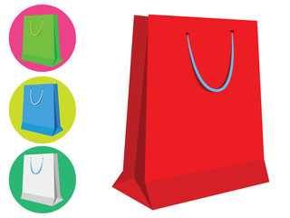 Colorful shopping bags or gift bags - Isolated