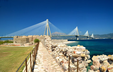 rio antiro bridge - patra greece