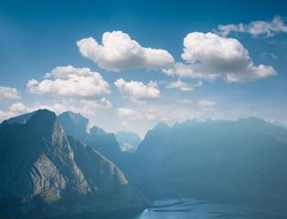 landscape of fjord