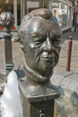 Willy Brandt Statue in Unkel