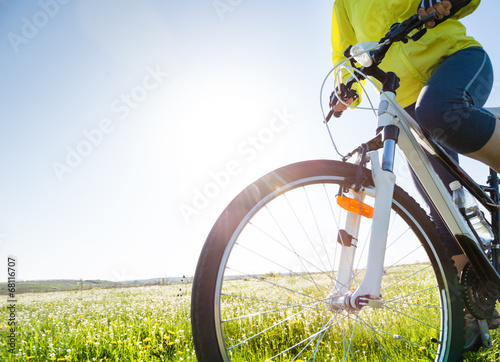 Poster, Tablou cycling at summer