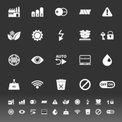 Electronic sign icons on gray background