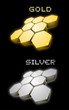 Gold and silver symbols
