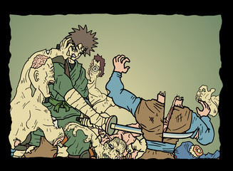 Dead scene