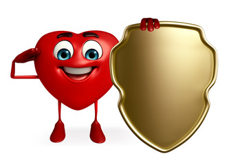 Heart Shape character with shield