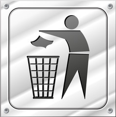 Vector trash design icon