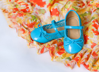 Pair of blue dancing shoes