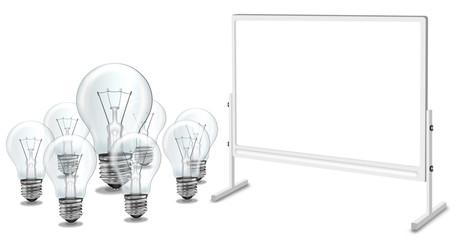 Glühbirnen - Seminar mit Brainstorming, freigestellt