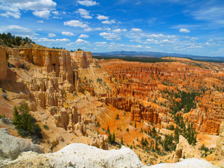 Summer sky above Bryce Canyon