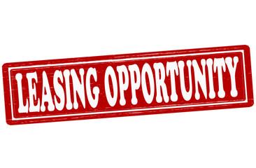 Leasing opportunity
