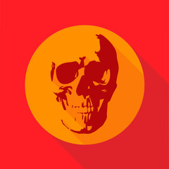 skull icon illustration