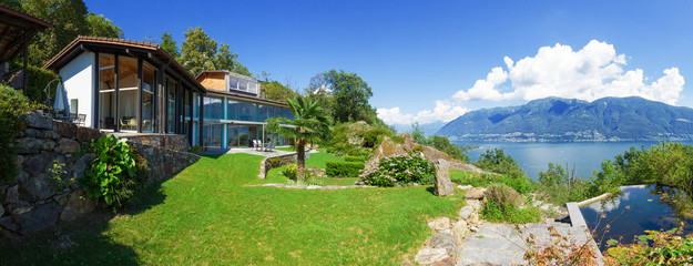 Panoramic view of villa