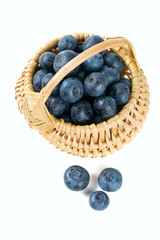 blueberries in a basket