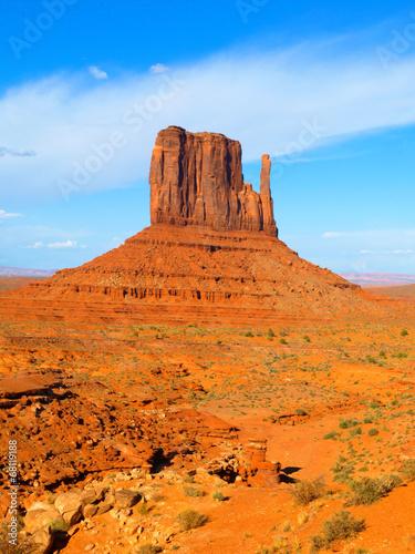 Poster Oranje eclat Mitten Butte in Monument Valley