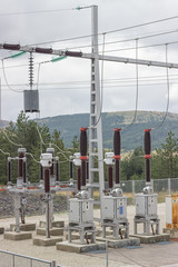 Electric Power Substation with circuit switcher, regulators and