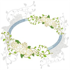 jasmine flower vintage frame greeting card