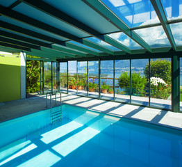 Architecture, swimming pool in interior