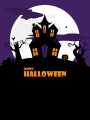halloween spooky house portrait