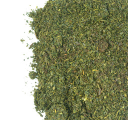Heap of Chinese green tea