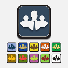 Stylish colored icons, business team