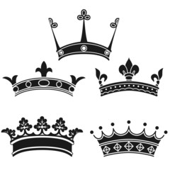 Collection of vintage crowns