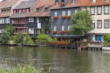Malerische Häuserfassaden in Bamberg