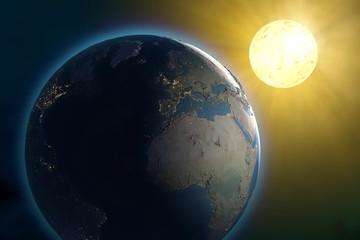 Mondo terra sole spazio