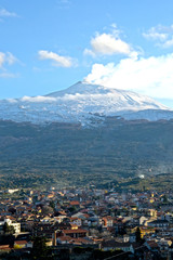 On the slopes of Etna covered by snow - Vulcano, Sicily