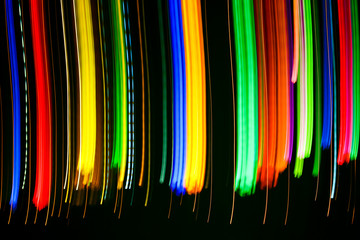Line lights in motion