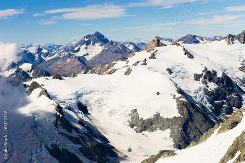 Keuken foto achterwand Nieuw Zeeland Snowy mountains