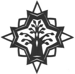 Scherenschnitt Baumstern