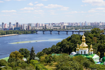 View from the Kiev Pechersk Lavra on the Dnieper River