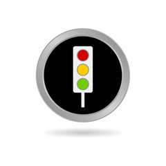 traffic light icon in black vector illustration