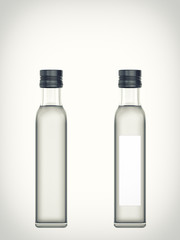 Bottle with water isolated on a white background