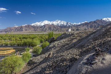Leh Valley in Ladakh Kashmir