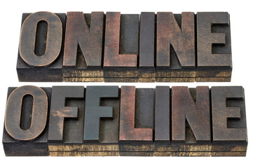 online and offline in wood type