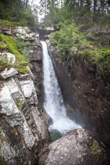 Waterfall Obrovsky vodopad in High Tatras, Slovakia