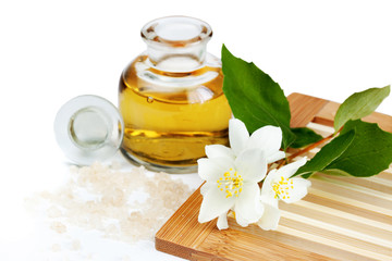 Spa composition with Jasmine, isolated