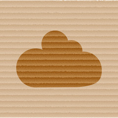 Cloud download application web icon, flat design