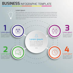4-Step process infographics light vector background