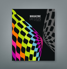 Cover magazine abstract butterfly design background
