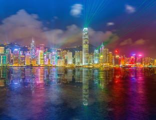 Hong Kong city view at night