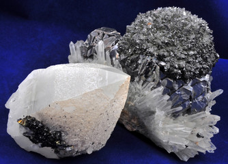 Galena and quartz in a unique natural formation