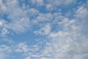 clouds in blue sky.