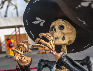 Dead mariachi, Dia de los muertos, Day of the dead in Mexico