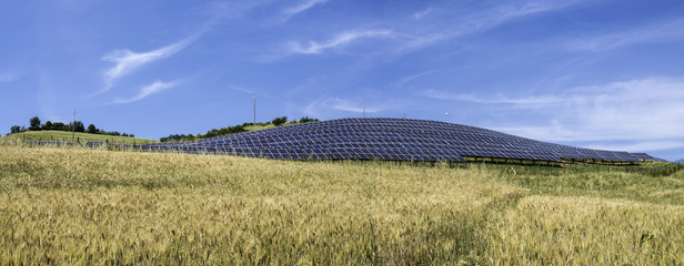 Solar panels in rural